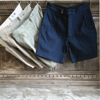 LYBRO / Nigel Cabourn<br>PLEATED CHINO SHORT / HERRING BONE