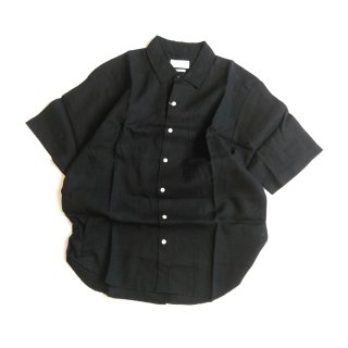 Manual Alphabet<br>LINEN LOOSE FIT REGULAR COLLAR SHIRT