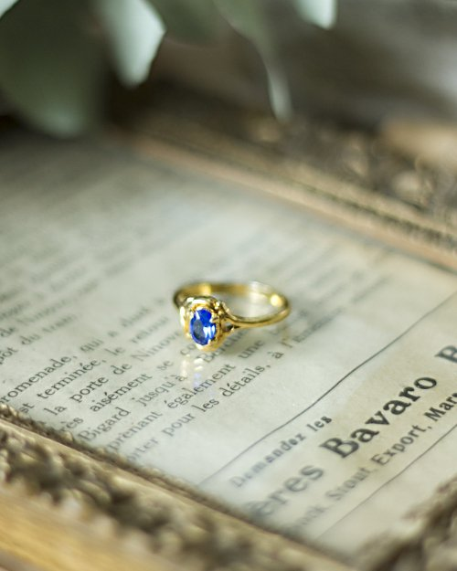 Blue Stone Gold Ring