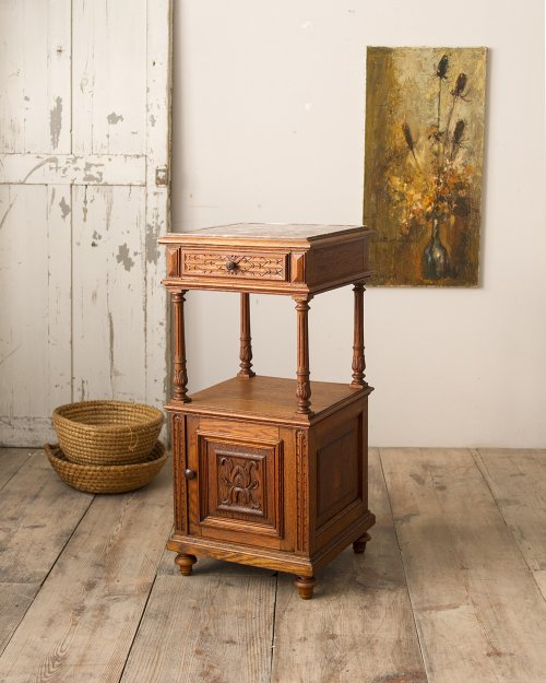 Marble Top Night Cabinet