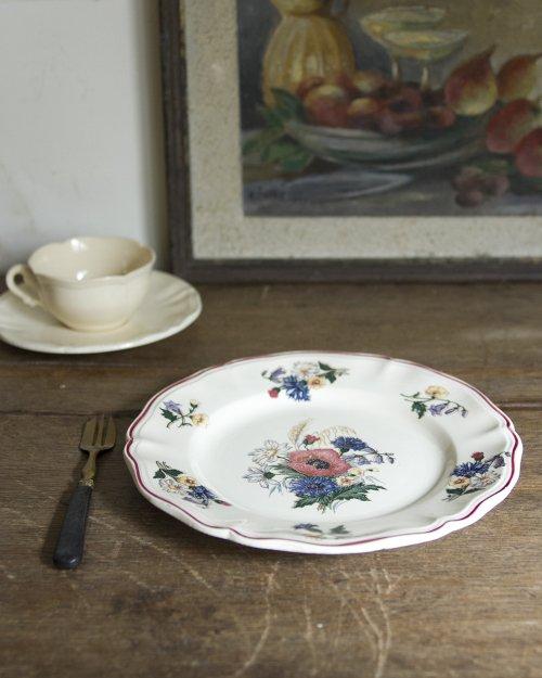 """サルグミンヌ  フラワープレート.a  """"Sarreguemines"""" Plate"""