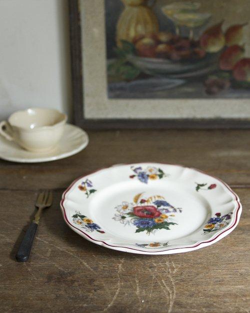 """サルグミンヌ  フラワープレート.b  """"Sarreguemines"""" Plate"""