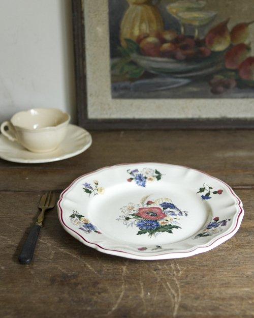 """サルグミンヌ  フラワープレート.d  """"Sarreguemines"""" Plate"""