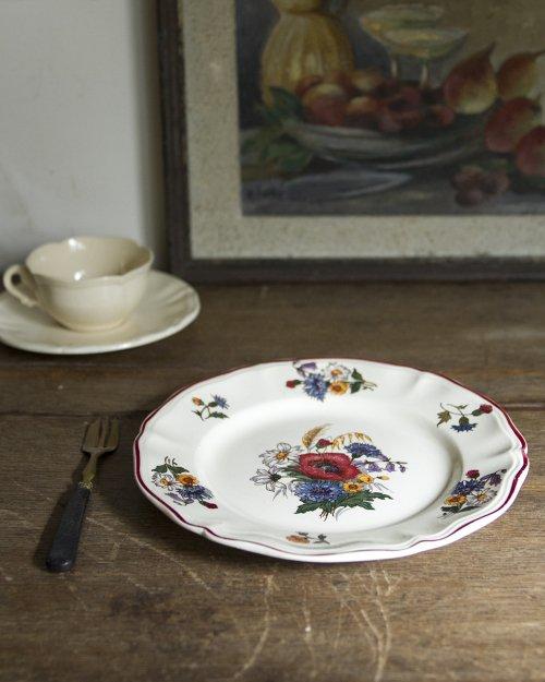 """サルグミンヌ  フラワープレート.e  """"Sarreguemines"""" Plate"""