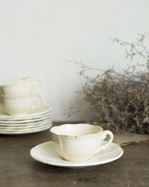 """サルグミンヌ カップ&ソーサー.i  """"Sarreguemines"""" Cup and Saucer"""