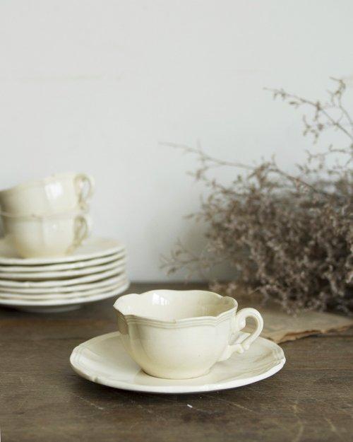 """サルグミンヌ カップ&ソーサー.n  """"Sarreguemines"""" Cup and Saucer"""