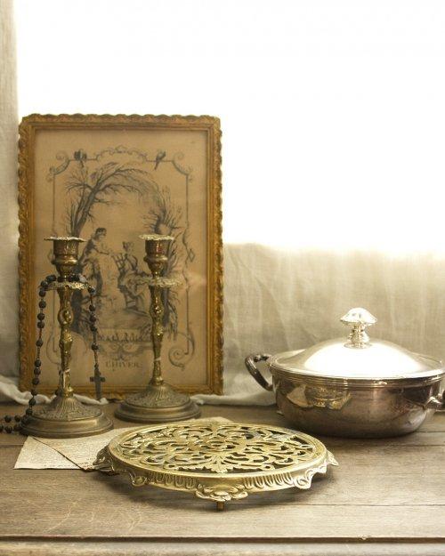 真鍮製 鍋敷き  Brass  Brass Trivet