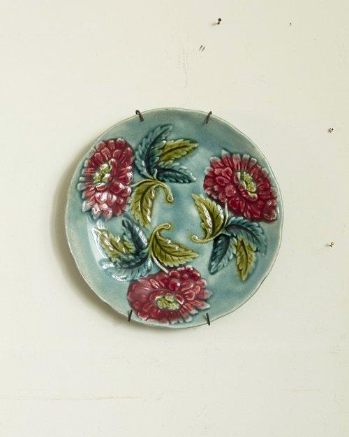 """バルボティーヌプレート """"花""""  Barbotine Plate """"  Flower"""""""