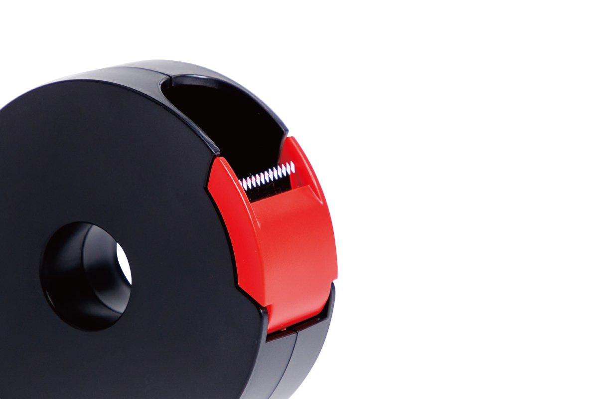 テープカッター小(黒×赤)