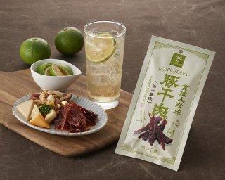 食仙人珍味 豚干肉<豚の干肉>(柚子風味)・豚揚皮<ポークチップ>(カレー風味)各5Pセット