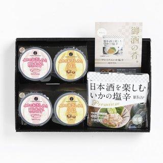 日本酒に合ういかの塩辛とお刺身2種