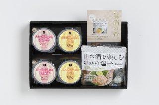 【お中元】日本酒に合ういかの塩辛とお刺身2種
