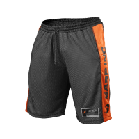 No1 mesh shorts, black/flame