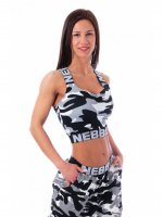 NEBBIA Training Bra Medium Camo Grey