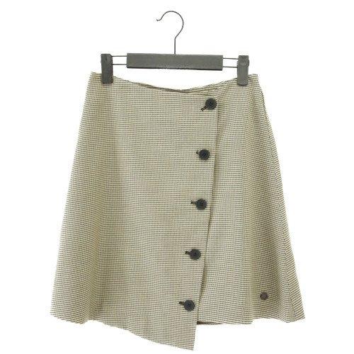 【最終価格】【SALE60%オフ】NUMPH ニンフ<br>チェック柄アシンメトリースカート<br>デンマーク/メール便対応可能