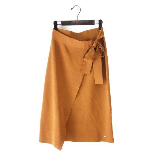 【最終価格】【SALE50%オフ】NUMPH ニンフ<br>ラップ風デザインスカート<br>デンマーク