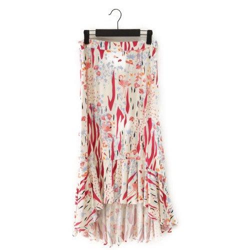 【最終価格】【SALE60%オフ】NUMPH ニンフ<br>フラミンゴプリントスカート<br>デンマーク/メール便対応可能