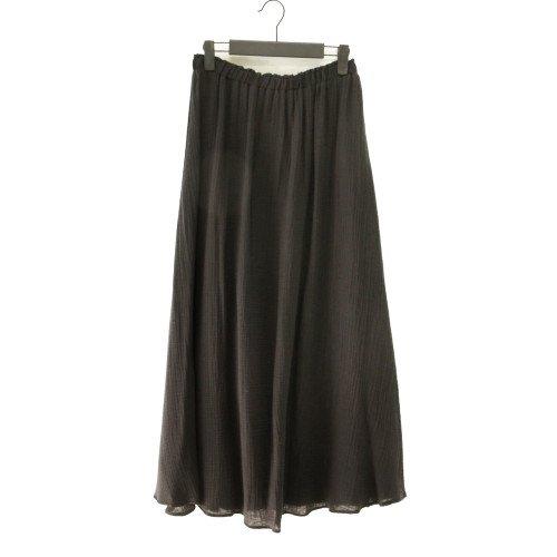 【最終価格】【SALE50%オフ】TOUPY トゥピー<br>シボコットンガーゼロングギャザースカート<br>/フランス