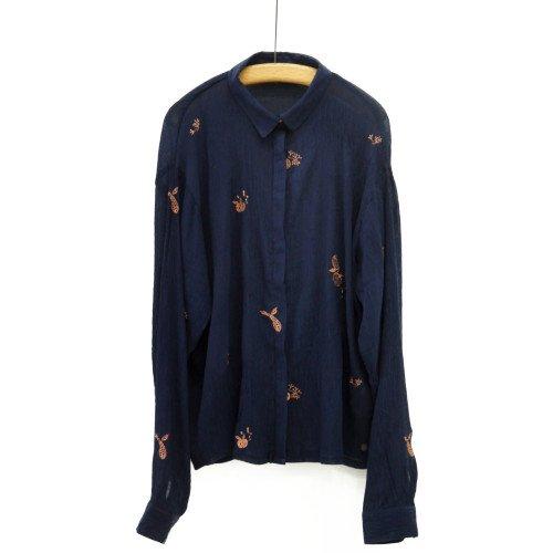 NUMPH ニンフ<br>フルーツ刺繍シャツ<br>デンマーク/メール便対応可能
