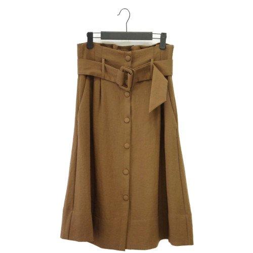 【最終価格】【SALE50%オフ】AND LESS アンドレス <br>ベルトデザインスカート<br> デンマーク