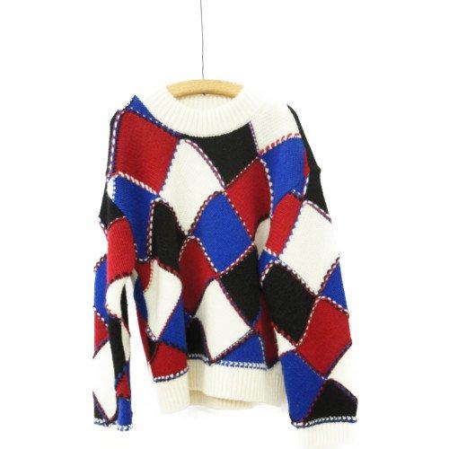 COOHEM コーヘン<br>Modern Argyle knit プルオーバー<br>送料無料 /日本