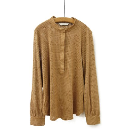 【MORE SALE60%オフ】<br>NUMPH ニンフ<br>スウェードタッチパンチングシャツ<br>デンマーク/メール便対応可能