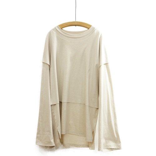 【FINAL SALE40%オフ】<br>My Beautiful Landlet マイビューティフルランドレット<br>layerd L/S T-shirt<br>メール便対応可能/日本