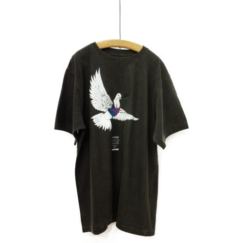 STOF ストフ×Banksy<br>ピグメントTシャツ バンクシーコラボ DOVE<br>日本/メール便対応可能