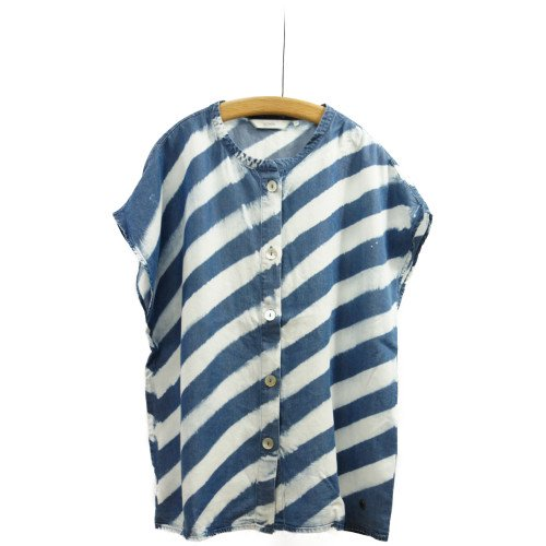 【MORE SALE30%オフ】<br>NUMPH ニンフ<br>スラッシュボーダーシャツ<br>デンマーク/メール便対応可能
