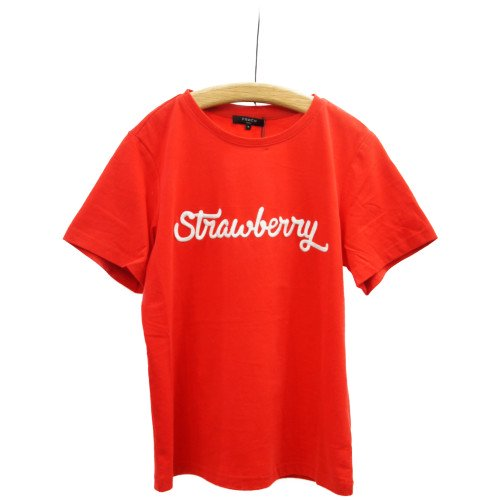<img class='new_mark_img1' src='https://img.shop-pro.jp/img/new/icons8.gif' style='border:none;display:inline;margin:0px;padding:0px;width:auto;' />FRNCH フレンチ<br>ストロベリー刺繍Tシャツ<br>メール便対応可能/ フランス