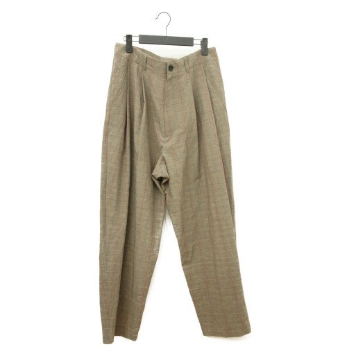 【SUMMER SALE30%オフ】<br>My Beautiful Landlet <br>original fabric tuck wide pants  check<br>送料無料/日本