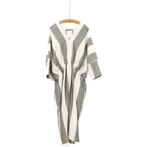 SI HIRAI スーヒライ<br>コットンリネンストライプワンピース/rectangle dress stripe<br>送料無料/日本