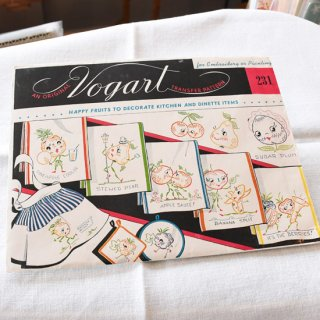 アメリカ ヴィンテージ 刺繍図案 / HAPPY FRUITS