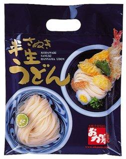 半生麺+おか泉特選醤油入りセット 4人前