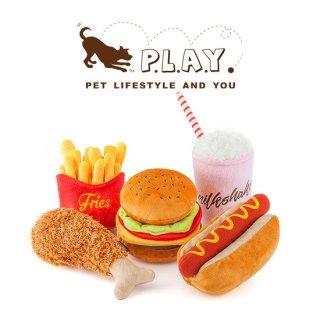 【P.L.A.Y 犬用おもちゃ】アメリカンクラッシック ハンバーガー