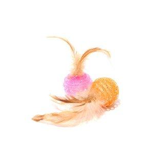 【ROOP 猫用おもちゃ】ファニーズ・キャンディーフェザー(2個セット)