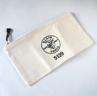 ★USA PRODUCT★Klein Tools Canvas Zipper Bag 5139 / Natural