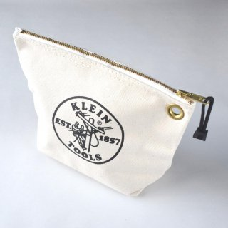 ★USA PRODUCT★Klein Tools Canvas Zipper Bag for Consumables 5539 / Natural
