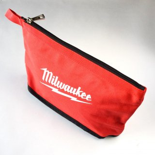 ★USA PRODUCT★Milwaukee 12 inch. Zipper Pouche / Red-Line /