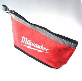 ★USA PRODUCT★Milwaukee 12 inch. Zipper Pouche / Gray-Line /