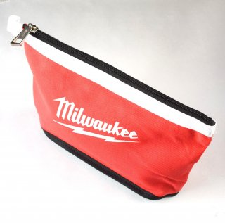 ★USA PRODUCT★Milwaukee 12 inch. Zipper Pouche / White-Line /