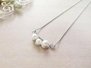 ホワイトスズラン ネックレス White Lily 【受注生産】