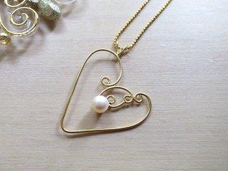 パールリーフ ネックレス Pearl Leaf