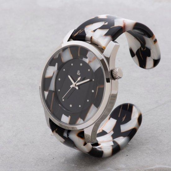 b92fc015e2 眼鏡職人が作った「腕にかける」新感覚の腕時計 鯖江バングルウォッチ【ビッグフェイス】ホワイトモザイク|IGATTA COLLETTI