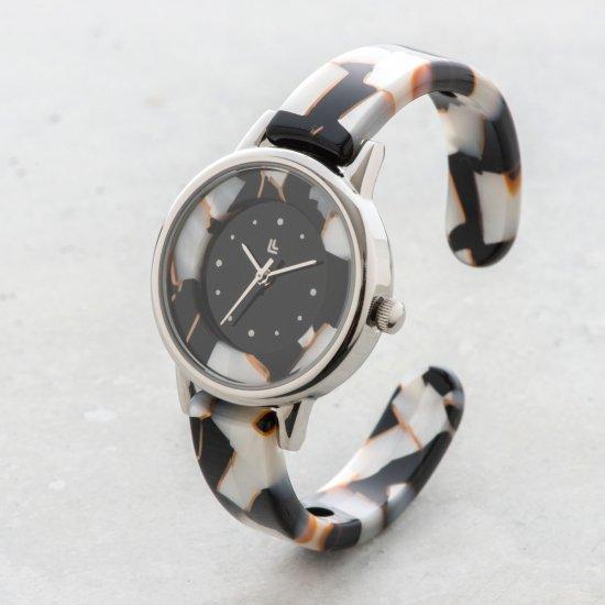 bdda317fbd 眼鏡職人が作った「腕にかける」新感覚の腕時計 鯖江バングルウォッチ【スモールフェイス】ホワイトモザイク|IGATTA COLLETTI