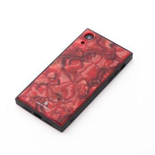 iPhoneケース レッドマーブル