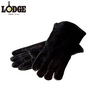 LODGE(ロッジ) レザーグローブ -ブラック