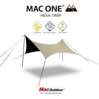 【予約商品4月中旬お渡し予定】MAC-ONE ヘキサタープ  サンド - Mサイズ