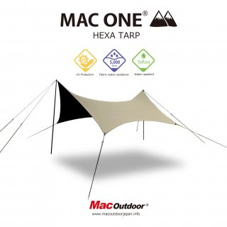 【予約商品】MAC-ONE ヘキサタープ  サンド - Mサイズ