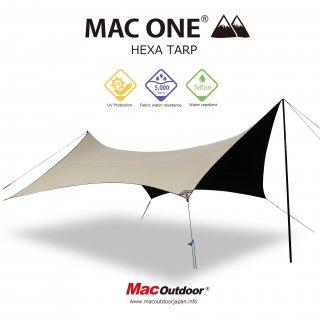 【予約商品】MAC-ONE ヘキサタープ  サンド - Lサイズ